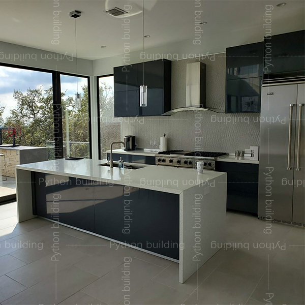 New cabinets and railings project in US