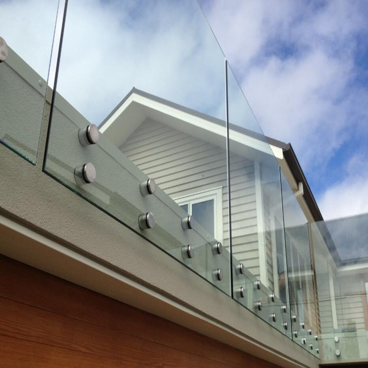 Outdoor Stainless Steel Standoff Frameless Glass Railing