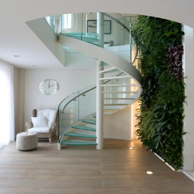 Spiral Staircase Glass Steps