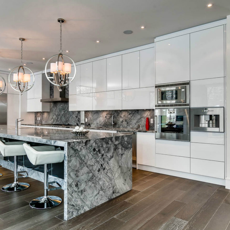 Customized White Lacquer Kitchen Cabinet