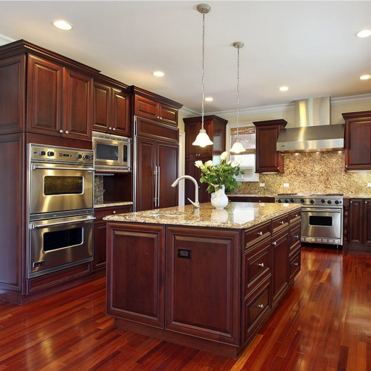 America Style Shaker Door Solid Wood Kitchen Cabinet