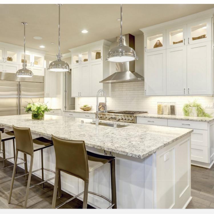 White Shaker Door Solid Wood Kitchen Cabinet