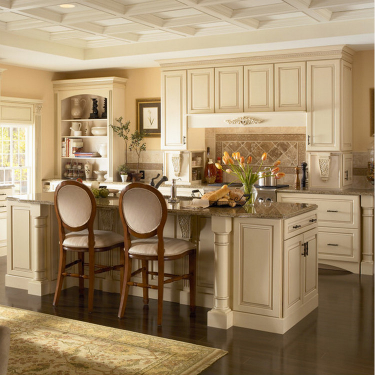 Luxury Customized Solid Wood Kitchen Cabinet