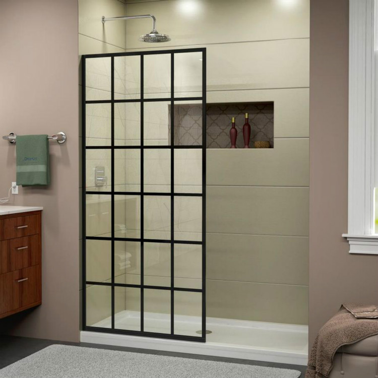 Framed French Style Fixed Glass Shower Door