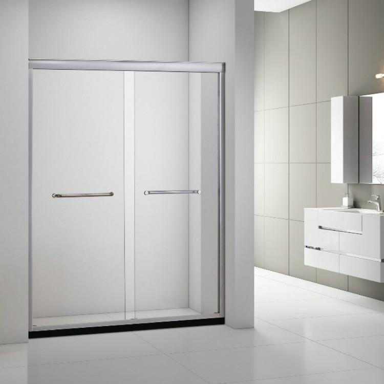Tempered Glass Bypass Sliding Shower Door