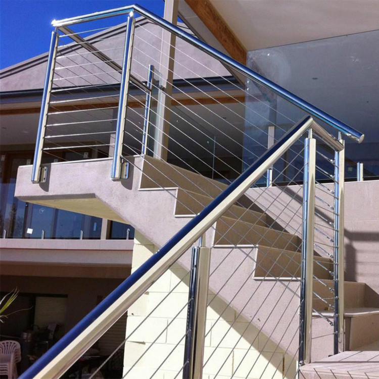 Fascia Mounted Stainless Steel Cable Railing