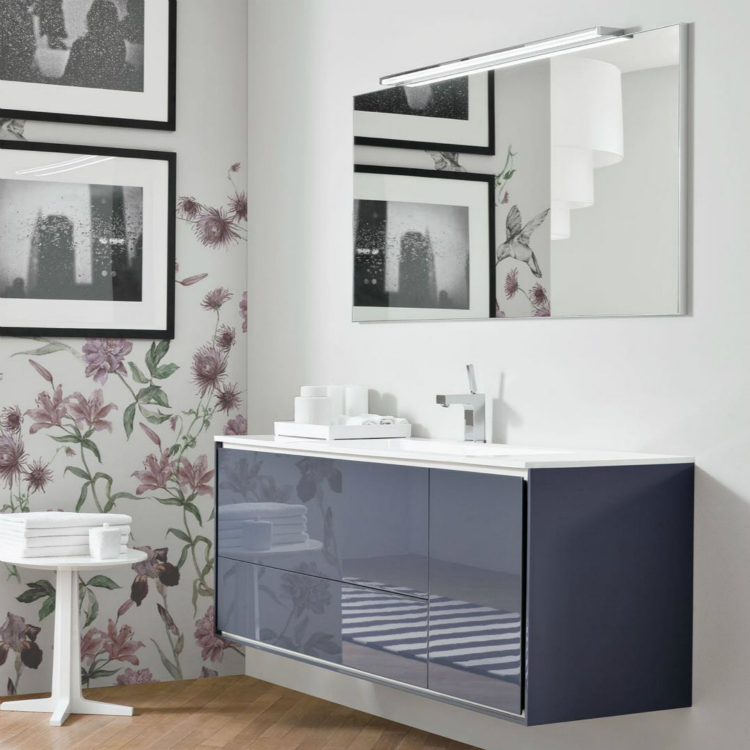 Lacquer Modern Bathroom Vanity Cabinet