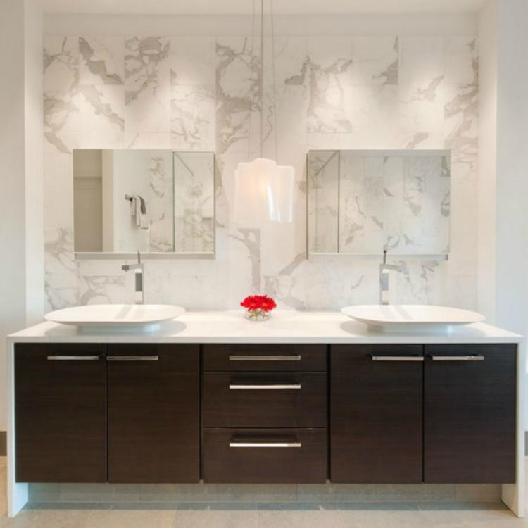 Melamine Modern Bathroom Vanity Cabinet