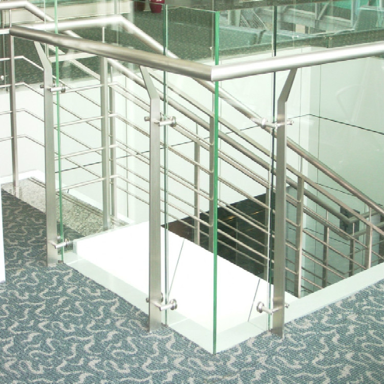 High-Rise Balcony Glass Railing Flat Plate Baluster