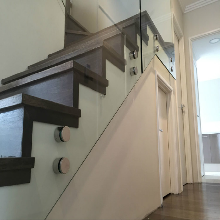 Internal Fascia Mounted Glass Balustrade