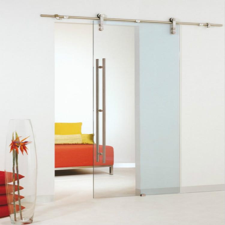 Frameless Glass Sliding Barn Door