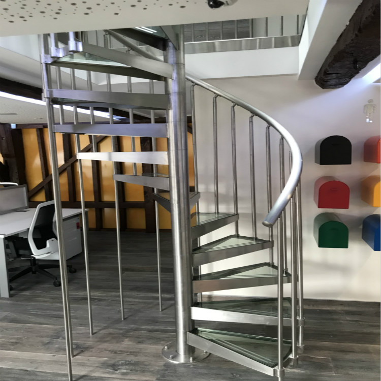 Stainless Steel Glass Spiral Stair UK