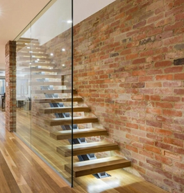 Glass Railing Maple Tread Staircase