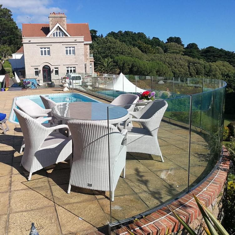 Glass Pool Fencing Jersey Island UK