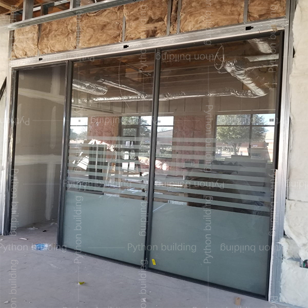Glass office partition wall Project in US