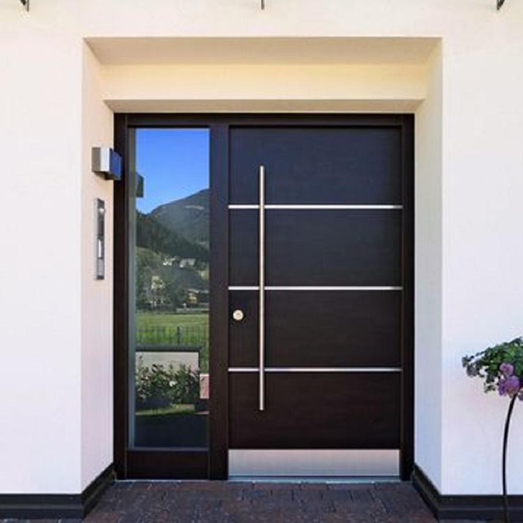 Custom Size Swing Wooden Modern Entry Pivot Entrance Doors