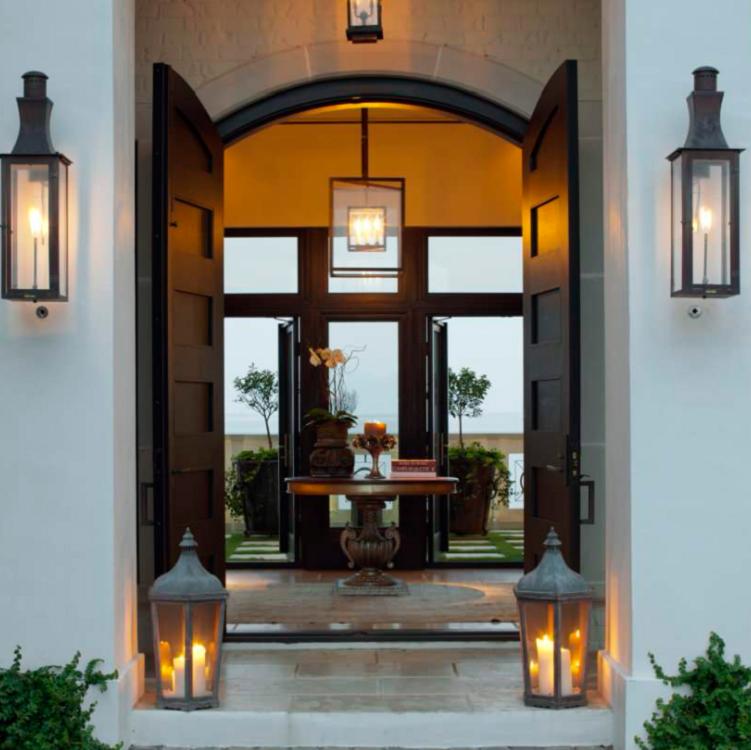 Modern luxury villa entry wood door main wooden entrance doors