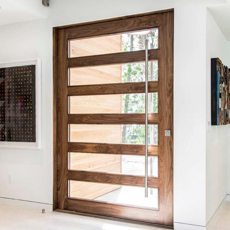 Wood glass door main entrance door cost