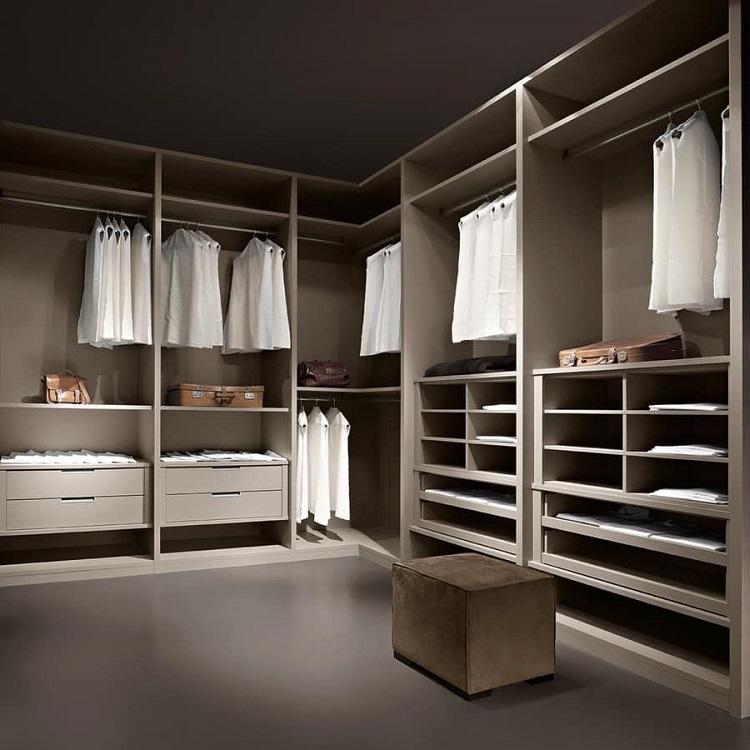 White Melamine Walk in Wardrobe