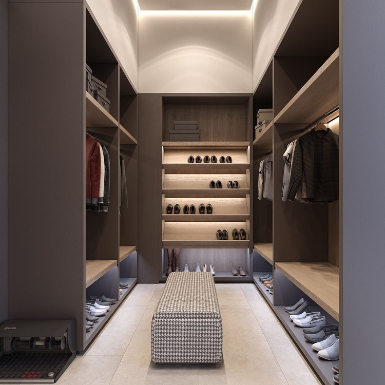 Custom made modern wood wardrobes closets designs bedroom walk in closet