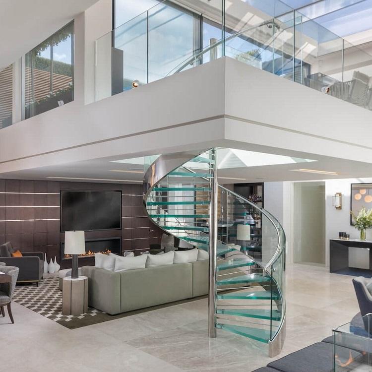Interior Glass Spiral Stair