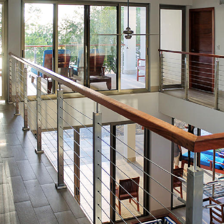Interior Stainless Steel Cable Railing For Staircase