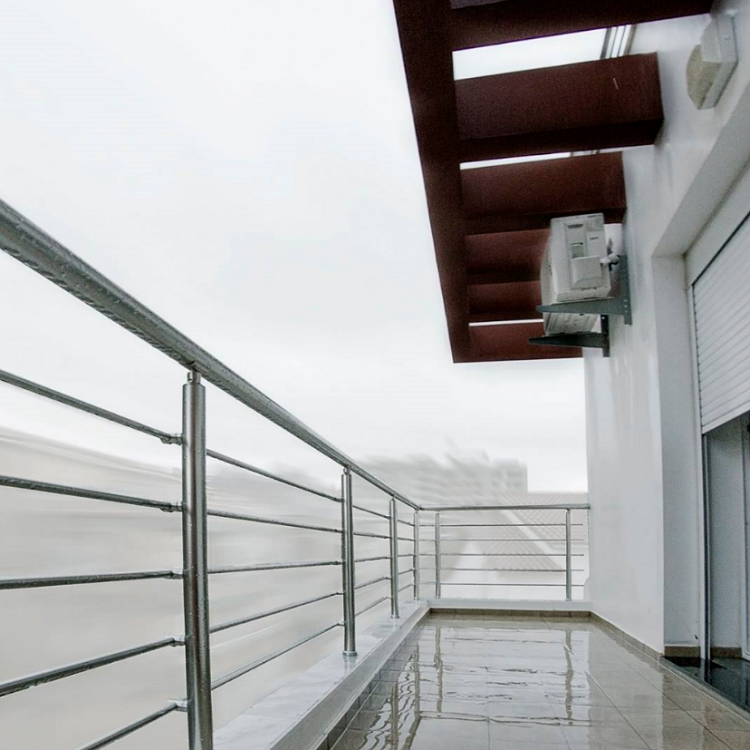 Exterior Stainless Steel Balcony Rod Railing