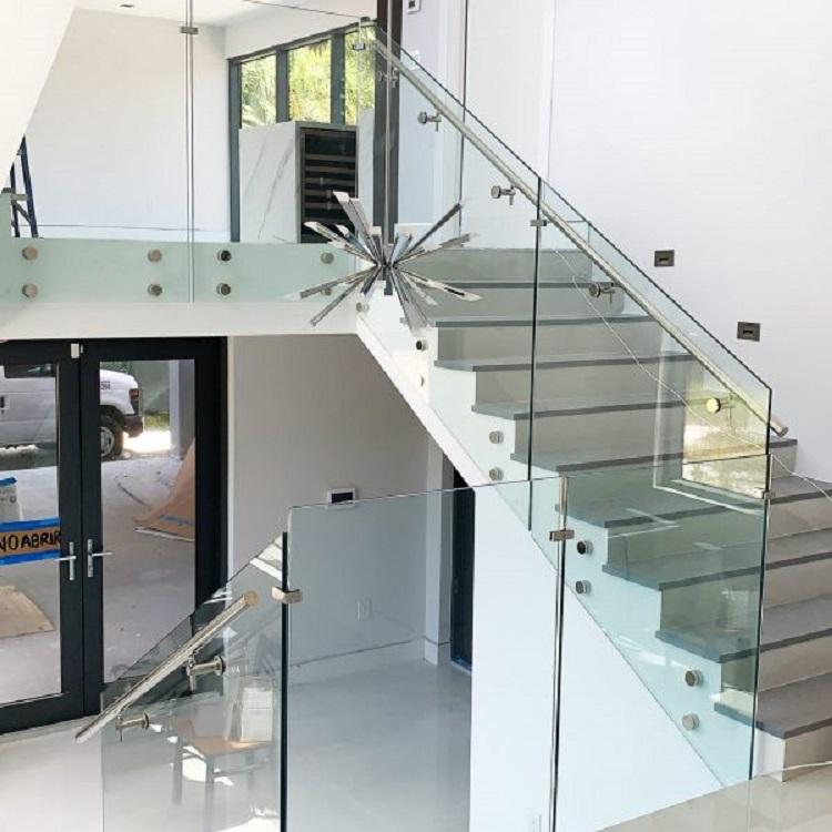 Internal Fascia Mounted Glass Balustrade