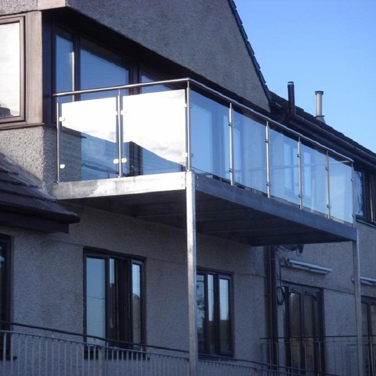 High-Rise Balcony Glass Post Railing