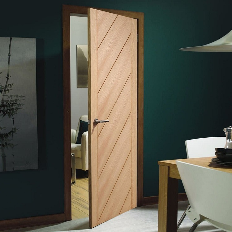 Customized Single Wooden Door Interior Modern Bedroom Door Design