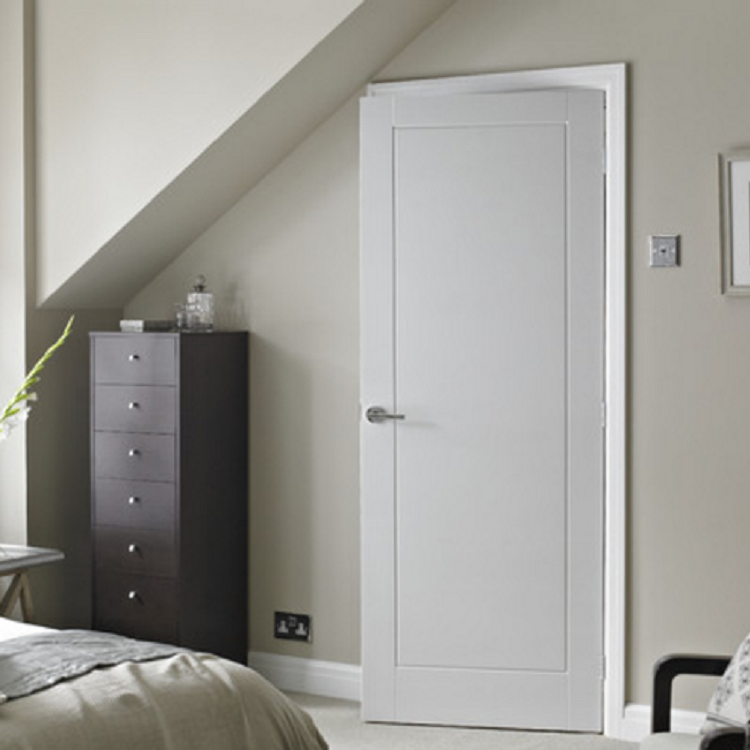 Modern wooden bedroom door design hotel room interior wood door