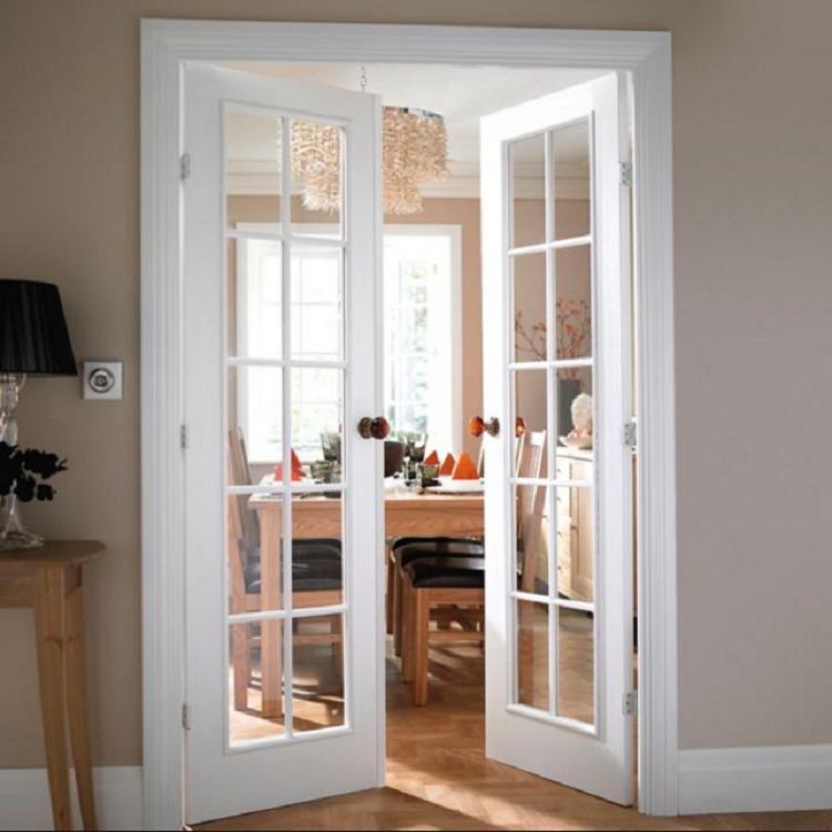 Hinge Swing Tempered Glass Balcony French Interior Casement Door