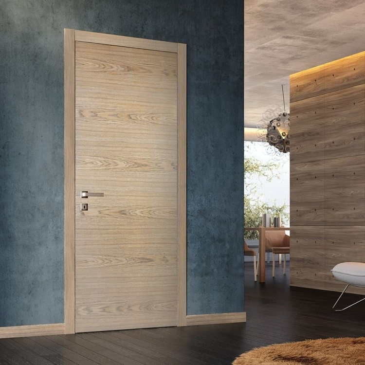 Prehung modern interior solid wood doors