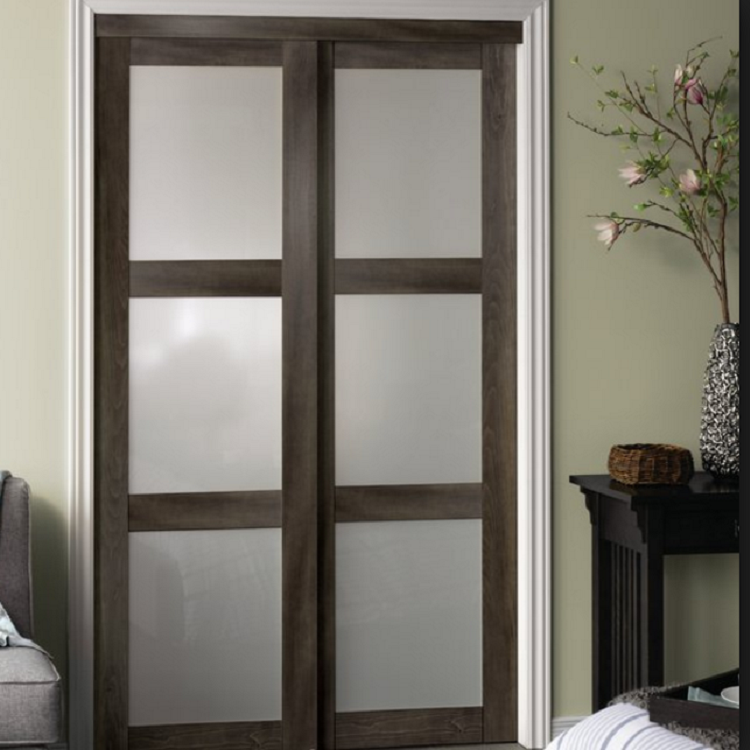 Interior wood sliding door