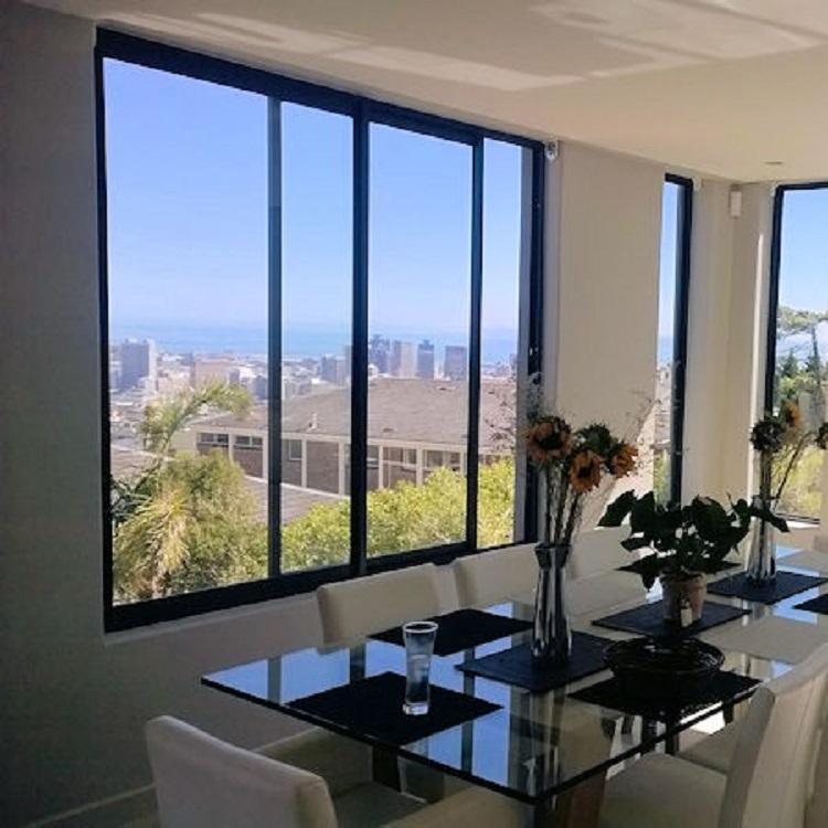 Aluminum glass kitchen double sliding window