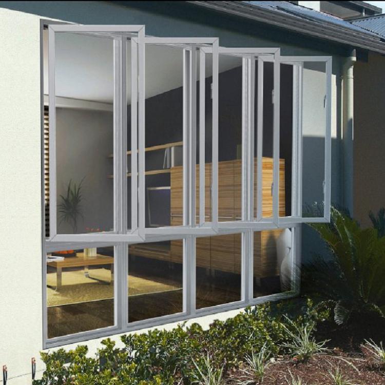 Aluminium double glazed casement window designs