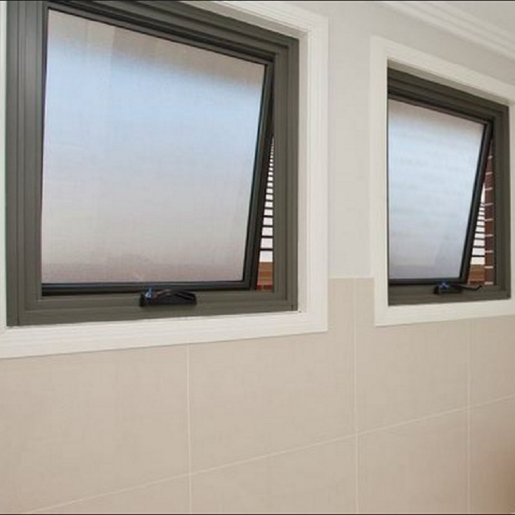 Awning windows aluminum alloy toilet frosted glass awning window