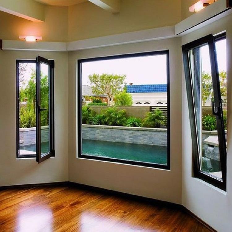 Modern style inside opening tilt and turn window design