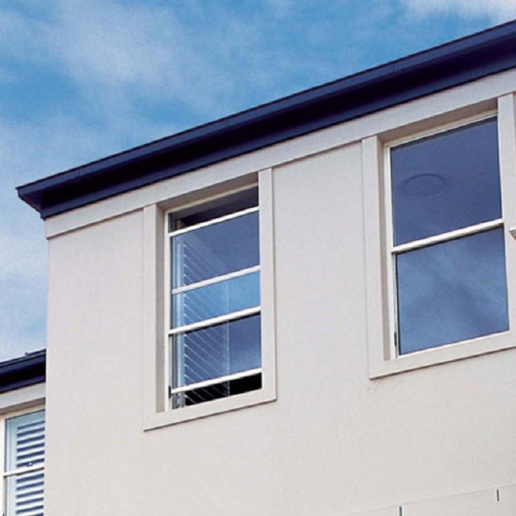 Vertical sliding aluminum single hung window with double glazed