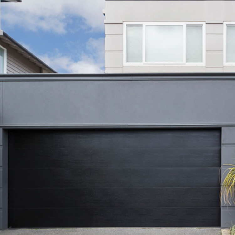 Simple steel plate garage door