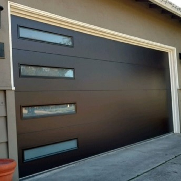 Electric Control Steel Glass Garage Door